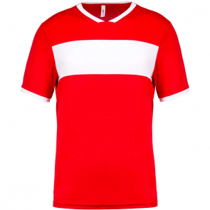 Short-sleeved jersey - kids - sporty red/white