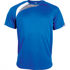 Short-sleeved sports t-shirt - men - sporty royal blue/white/storm grey