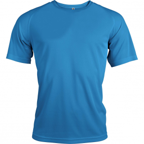 Short-sleeved sports t-shirt - men - aqua blue