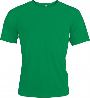 Short-sleeved sports t-shirt - men - kelly green