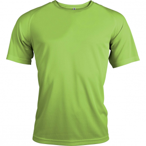 Short-sleeved sports t-shirt - men - lime