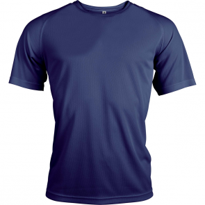 Short-sleeved sports t-shirt - men - navy
