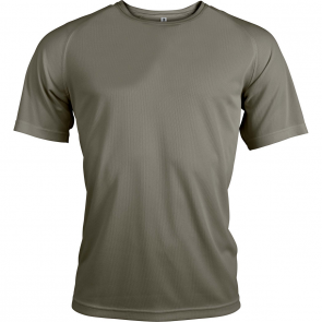 Short-sleeved sports t-shirt - men - olive