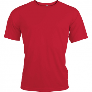 Short-sleeved sports t-shirt - men - red