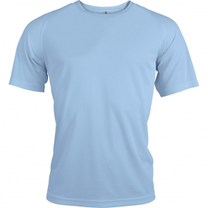 Short-sleeved sports t-shirt - men - sky blue