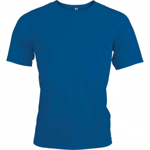 Short-sleeved sports t-shirt - men - sporty royal blue