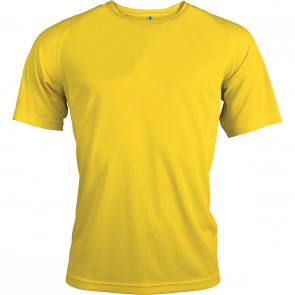 Short-sleeved sports t-shirt - men - true yellow