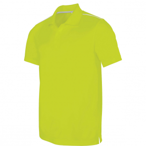 Short-sleeved polo shirt - men - lime