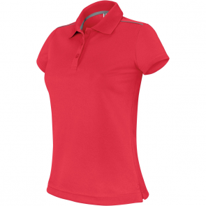 Short-sleeved polo shirt - ladies - sporty red