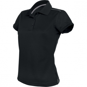 Short-sleeved polo shirt - ladies - black