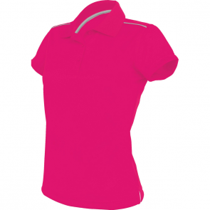 Short-sleeved polo shirt - ladies - fuchsia