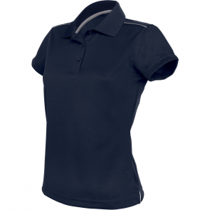Short-sleeved polo shirt - ladies - navy