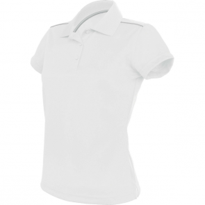 Short-sleeved polo shirt - ladies - white