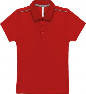 Short-sleeved polo shirt - kids - sporty red