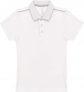 Short-sleeved polo shirt - kids - white