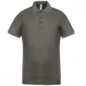 Performance piqué polo shirt - men - grey heather/grey heather