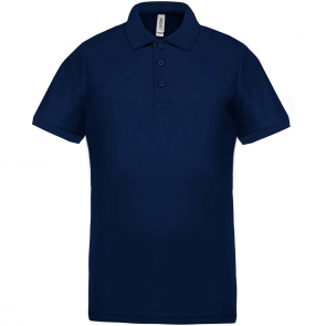 Performance piqué polo shirt - men - navy/navy