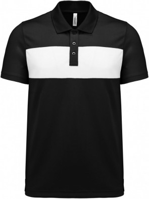 Short-sleeved polo shirt - men - black