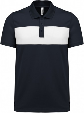 Short-sleeved polo shirt - adult - sporty navy/white