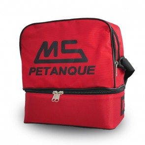 MS Petanque red bag for 6 petanque balls