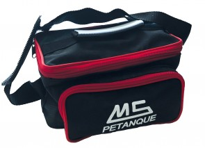MS Petanque reporter blue bag for 6 petanque balls