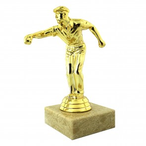 Player trophy gold color - La Boule Bleue