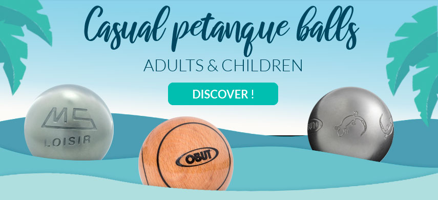 Pétanque balls for children and adults