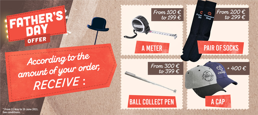 Father's Day: gifts offered for the purchase of pétanque balls